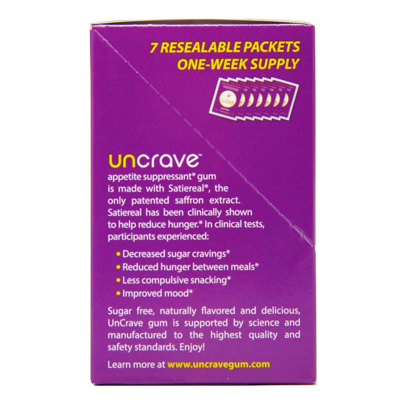 Buy Uncrave Anti Hunger Gum Wild Berry 7 Packets 14 Pieces