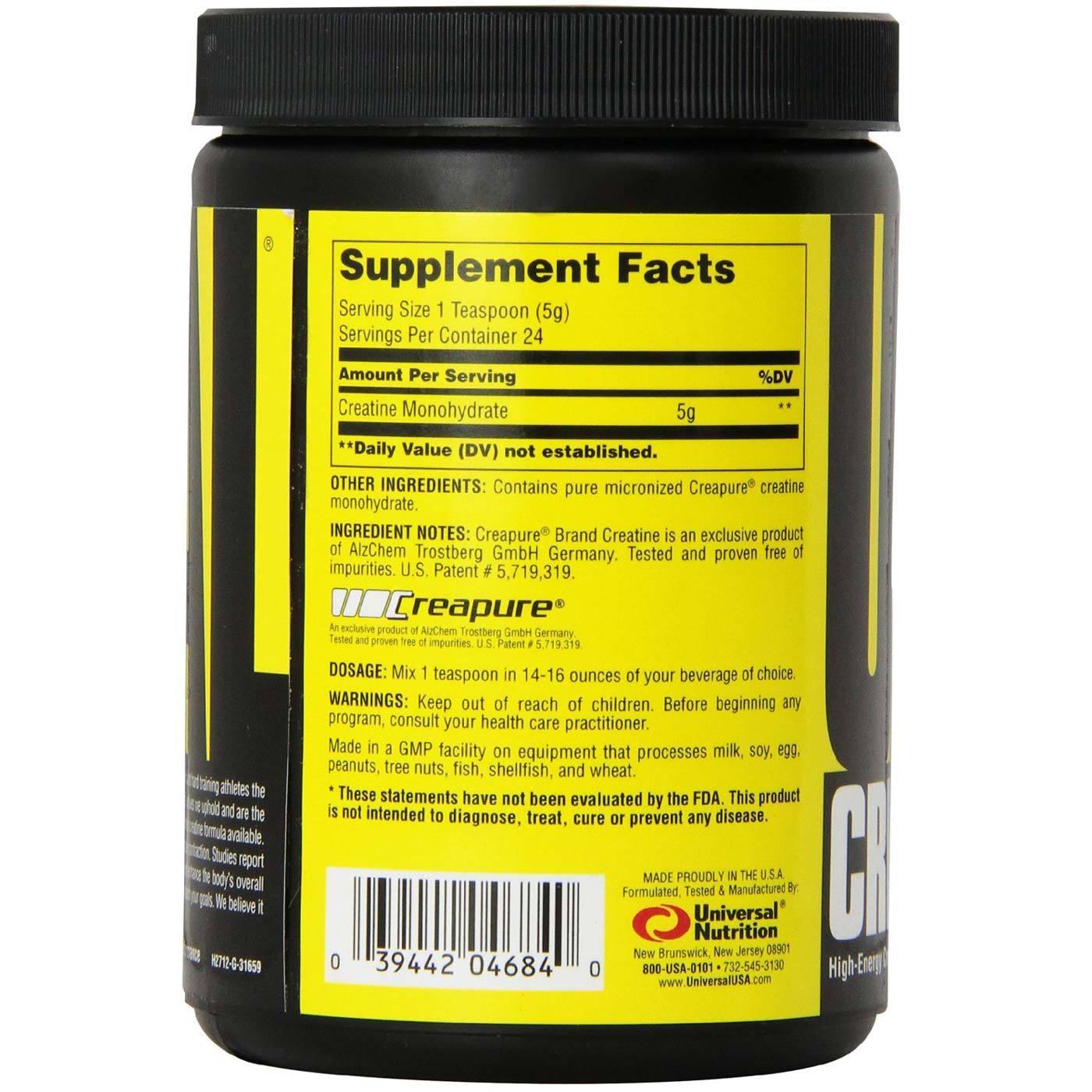 Universal Nutrition Creatine 120 Grams Evitamins Com