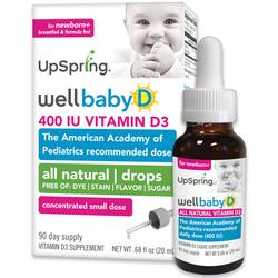 UpSpring WellBaby D All-Natural Vitamin D Drops For Infants