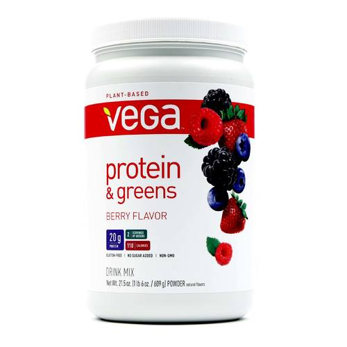 Vega Protein and Greens Berry - 21.5 oz - 838766006420_1.jpg