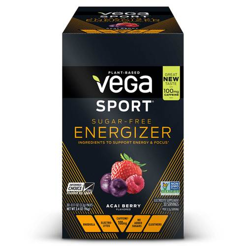 Vega Sport Sugar-Free Energizer Acai Berry - 30 - 0.11 oz Packs - 102987_frontbox.jpg