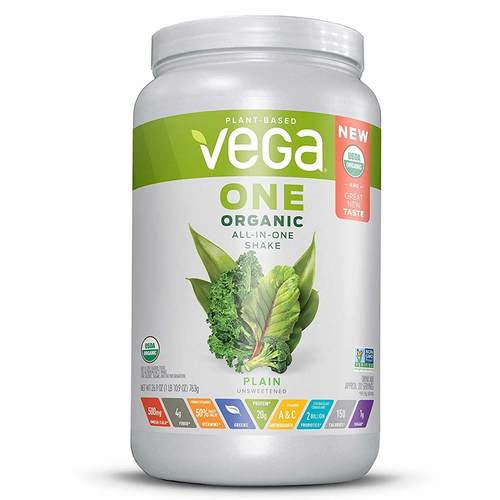 Vega One Organic All-In-One Shake Plain Unsweetened 763 g - 352324_front.jpg