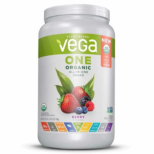 Vega One Organic All-in-One Shake Berry Flavored 688 g - 352329_front.jpg