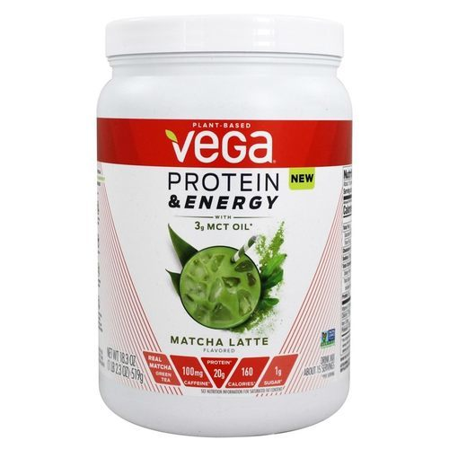Vega Protein and Energy with 3g MCT Oil - Matcha Latte - 18.3 oz - 354151_front.jpg
