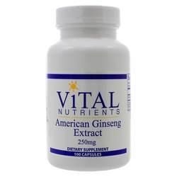 Vital Nutrients American Ginseng 250 mg