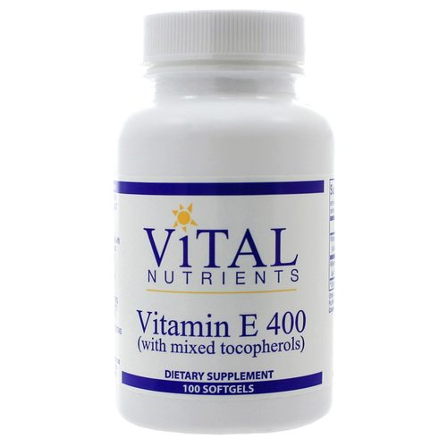 Vital Nutrients Vitamin E 400 IU Mixed  - 100 Softgels - 321629_1.jpg