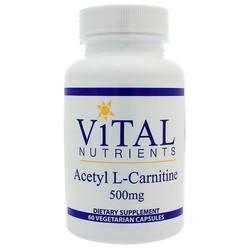 Vital Nutrients Acetyl L-Carnitine 500 mg