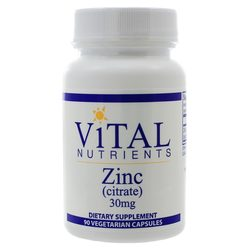 Vital Nutrients Zinc (Citrate) 30mg 90c