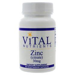 Vital Nutrients Zinc (Citrate) 30mg 90c