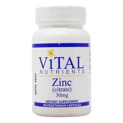 Vital Nutrients Zinc (Citrate) 30mg