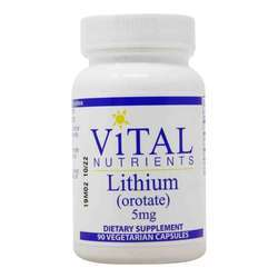 Vital Nutrients Lithium (orotate) 5 mg