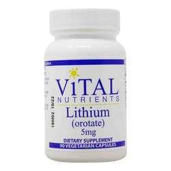 Vital Nutrients Lithium (orotate) 5 mg