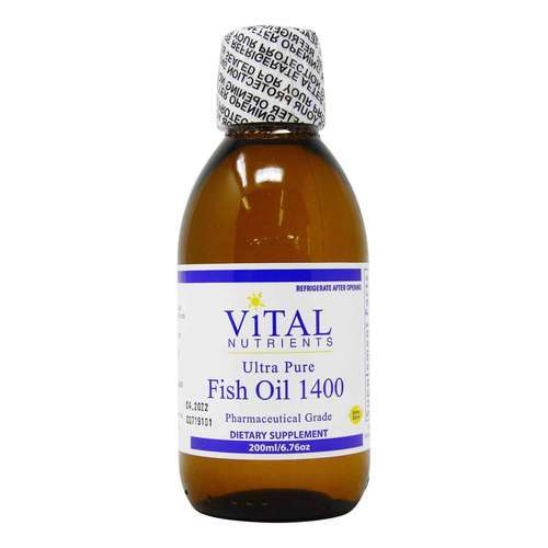 Vital Nutrients Ultra Pure Fish Oil 1400 Lemon - 200 ml - 321700_front2020.jpg