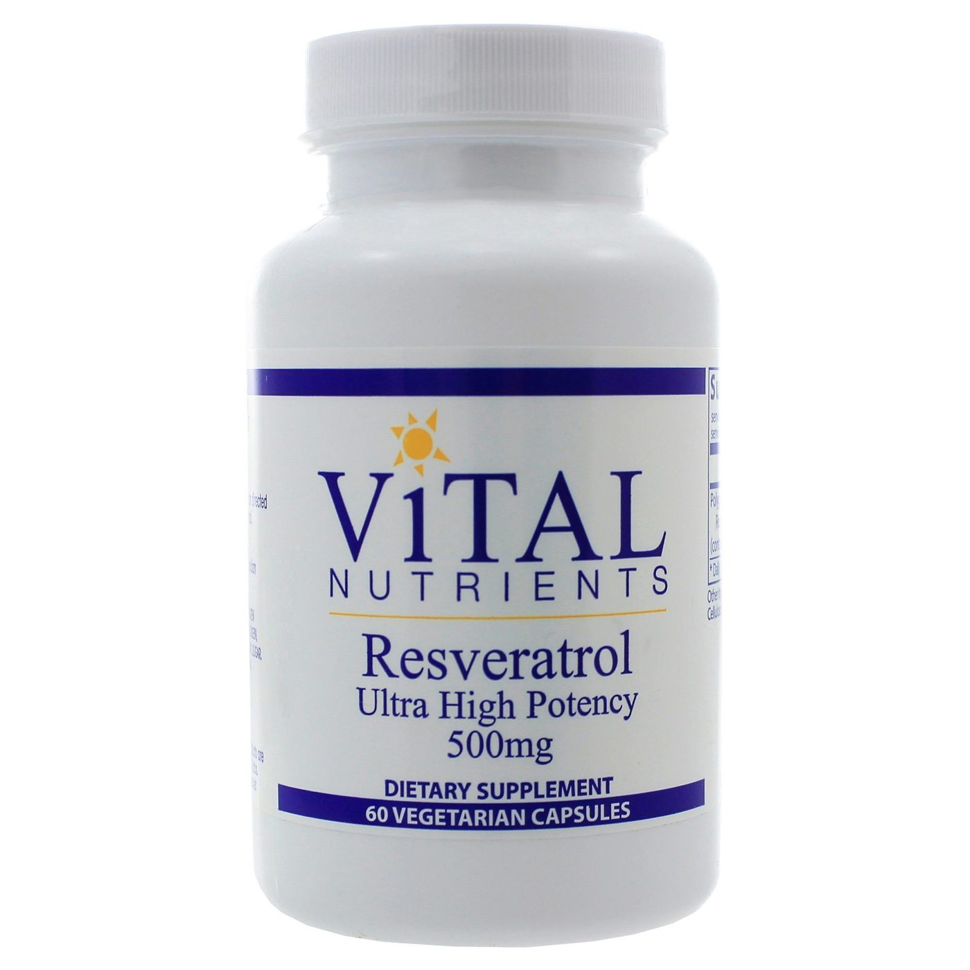 Buy Vital Nutrients Resveratrol 500 Mg 60 Vcapsules Evitamins