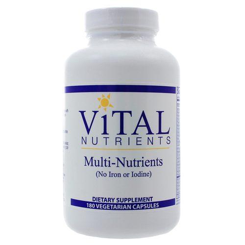 Vital Nutrients Multi Nutrients No Iron Or Iodine 180