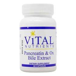 Vital Nutrients Pancreatin and Ox Bile
