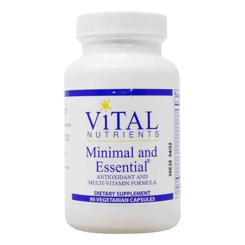 Vital Nutrients Minimal and Essential - 90 Vegetarian Capsules - 321742_front2020.jpg