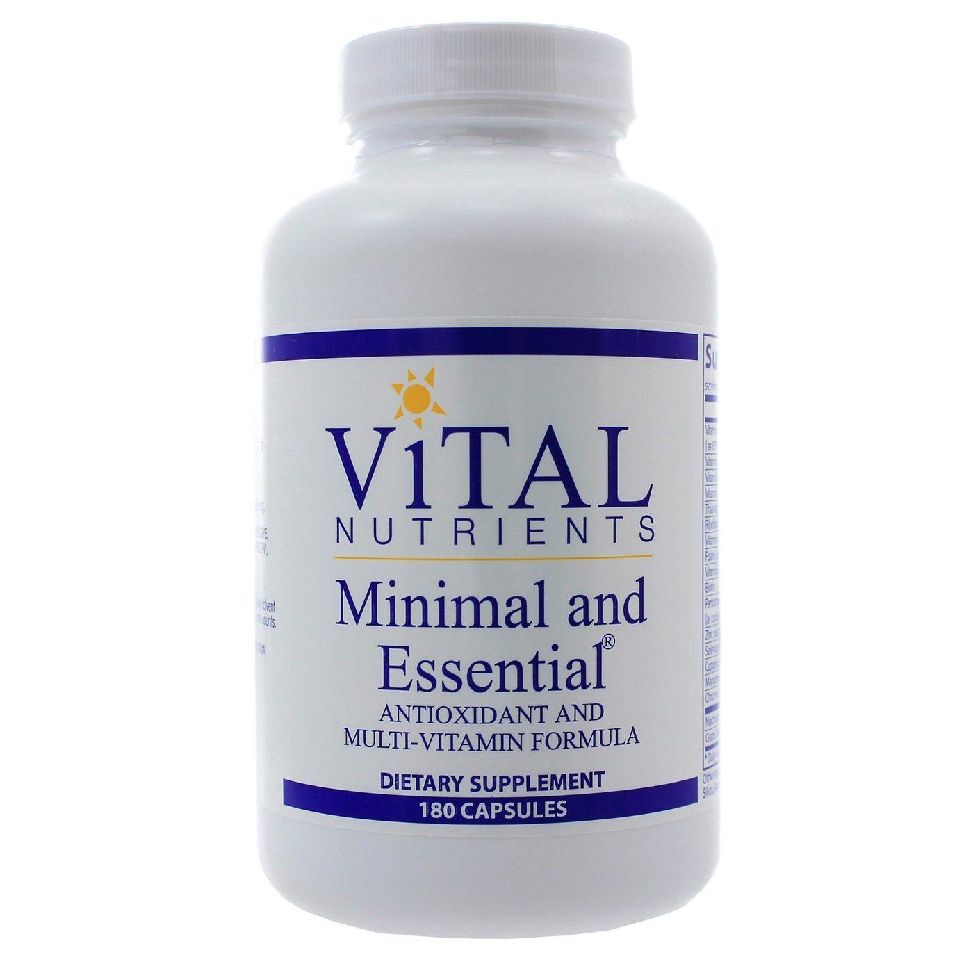 Vital Nutrients Minimal And Essential 180 Capsules