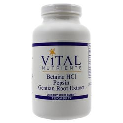 Vital Nutrients Betaine HCL Pepsin and Gentian Root Extract