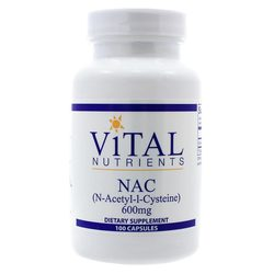 Vital Nutrients NAC (N-Acetyl-l-Cysteine) 600 mg