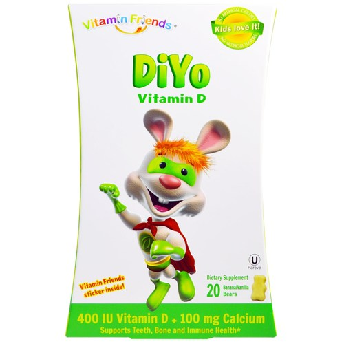 DiYo 400 IU Vitamin D + 100 mg Calcium