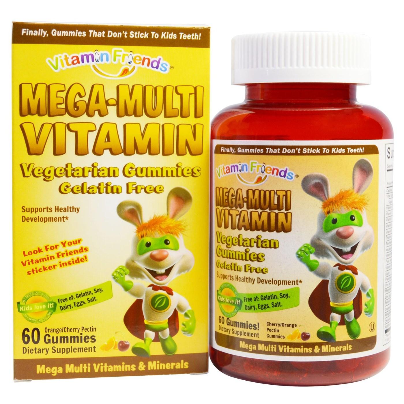 Vitamin Friends Mega-Multi Vitamin - 60 Pectin Gummies