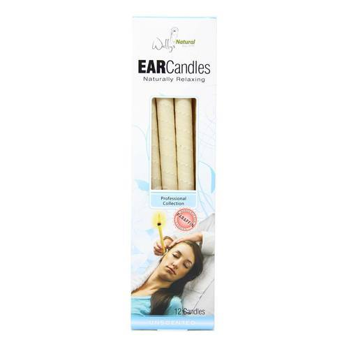 Wally's Paraffin Ear Candle Unscented Unscented - 12 pack - 32570_front2020.jpg