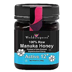 Wedderspoon Organic Premium Raw Manuka Active 12+
