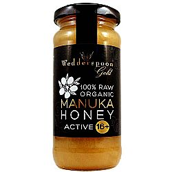 Wedderspoon Organic Raw Maunka Honey Active 16+