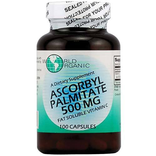 World Orgânico Ascorbil palmitato 500mg 100cap