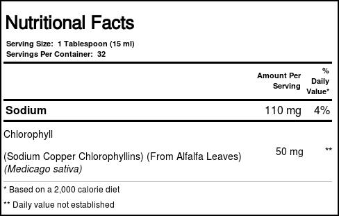 World Organic Liquid Chlorophyll 50 mg