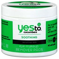Yes To Cucumbers Eye Makeup Removing Pads
