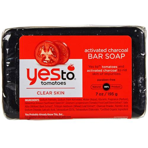 Yes To Tomatoes Activated Charcoal Bar Soap  - 7 oz