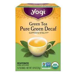 Yogi Tea Organic Teas Pure Green Tea Decaf