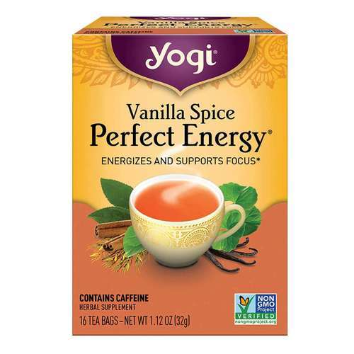 Yogi Tea Organic Teas Vanilla Spice Perfect Energy Tea Perfect Energy - 16 Bags - 32834_front2020.jpg
