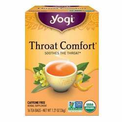 Yogi Tea Organic Teas Throat Comfort Caffeine Free Tea