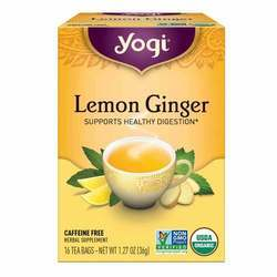 Yogi Tea Organic Teas Lemon Ginger Tea Caffeine Free