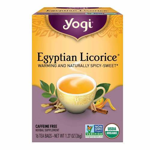 Yogi Tea Organic Teas Egyptian Licorice Tea Caffeine Free Licorice - 16 Bags - 8008_front2020.jpg