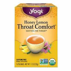 Yogi Tea Organic Teas Honey Lemon Throat Comfort Tea