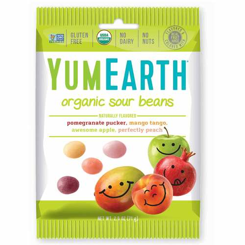 Yummy Earth Sour Beans - 2.5 oz - 64703_front.jpg