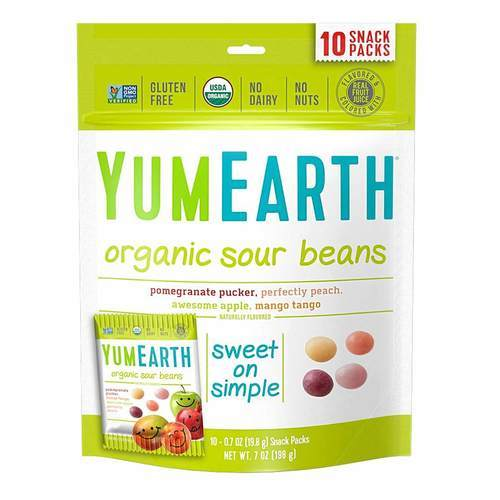 Yummy Earth Sour Beans - 2.5 oz - 64706_front2020.jpg