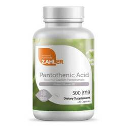 Zahlers Pantothenic Acid 500 mg