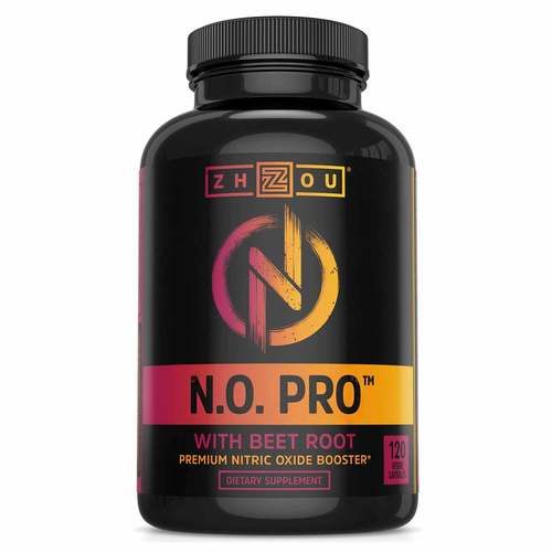 Zhou Nutrition NO Pro with Beet Root 120 Veggie Capsules - 352585_front.jpg