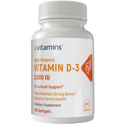 eVitamins Vitamin D3 2000 IU
