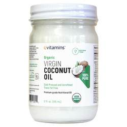 eVitamins Organic Virgin Cold Pressed Coconut Oil