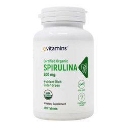 eVitamins Spirulina Organic Non-GMO