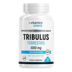 eVitamins Tribulus Terrestris, Standardized for 1000 mg, Vegan - GMP Certified