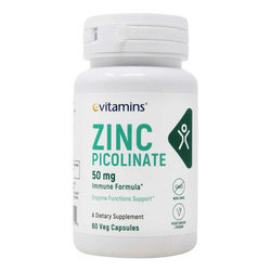eVitamins Zinc Picolinate 50 mg