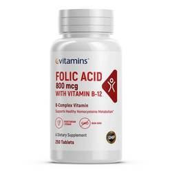 eVitamins Folic Acid 800 mcg